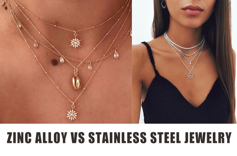 zinc alloy vs stainless steel jewelry