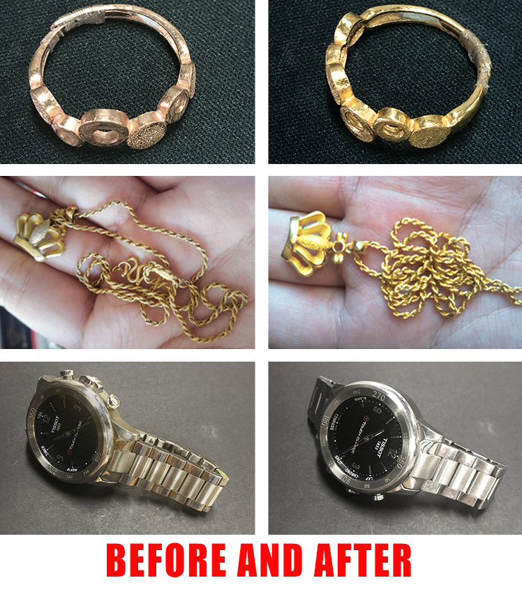 Before and after Jewelry Cleaning