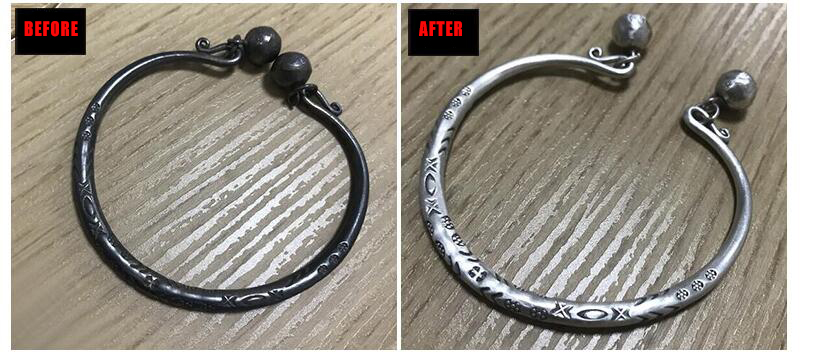 Polish Sterling Silver before and after