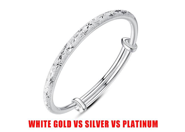 White Gold Vs Silver Vs Platinum