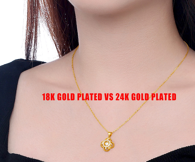 18k gold plated VS 24k gold plated